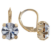 Buy John Lewis Leverback Crystal Drop Earrings, Gold Online at johnlewis.com