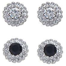 Buy John Lewis Mini Stud Earrings Double Pack, Silver / Black Online at johnlewis.com