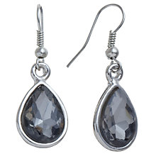 Buy John Lewis Pear Drop Earrings, Grey Online at johnlewis.com