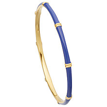 Buy Astley Clarke Colour Bamboo 18ct Gold Vermeil Bangle, Mood Indigo Online at johnlewis.com