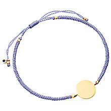 Buy Astley Clarke Biography 18ct Gold Vermeil Engraveable Disc Cord Bracelet Online at johnlewis.com