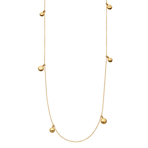 Buy Astley Clarke Colour 18ct Gold Vermeil Multiple Disc Long Necklace Online at johnlewis.com