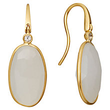 Buy Astley Clarke Colour 18ct Gold Vermeil Long Oval Hook Earrings Online at johnlewis.com