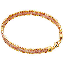 Buy Astley Clarke Biography Reed Woven Cord Friendship Bracelet Online at johnlewis.com