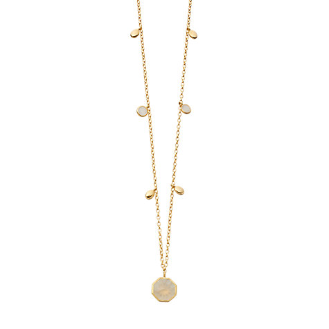 Buy Astley Clarke 18ct Gold Octagon Moonstone Long Necklace Online at johnlewis.com