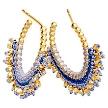 Buy Astley Clarke Biography 18ct Gold Vermeil Woven Hoop Earrings, Blue Online at johnlewis.com