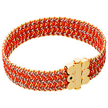 Buy Astley Clarke Biography 18ct Gold Vermeil Wide Woven Bracelet Online at johnlewis.com