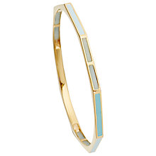 Buy Astley Clarke 18ct Yellow Gold Fractal Amazonite Bangle Online at johnlewis.com
