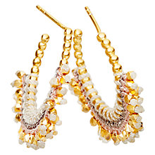 Buy Astley Clarke Biography 18ct Gold Vermeil Woven Hoop Earrings Online at johnlewis.com