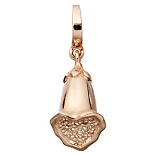 Buy Astley Clarke Charms 18ct Rose Gold Vermeil Diamond Foxglove Aphrodisiac Charm Online at johnlewis.com