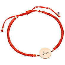 Buy Astley Clarke Biography 18ct Rose Gold Vermeil Love Disc Woven Bracelet Online at johnlewis.com