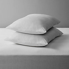 Buy John Lewis The Basics Microfibre Standard Pillows, Soft/Medium Support, Pair Online at johnlewis.com