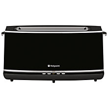 Buy Hotpoint TT22EAB0UK Long Slot 2-Slice Toaster, Black Online at johnlewis.com