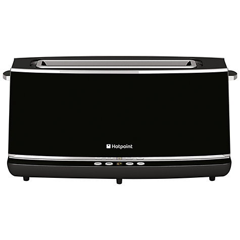 Buy Hotpoint TT2EAB0UK Long Slot 2-Slice Toaster, Black Online at johnlewis.com