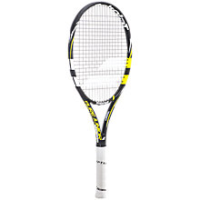 "Buy Babolat Pure Drive Junior 25"" Tennis Racket, Black/Yellow Online at johnlewis.com"