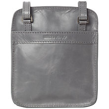 Buy White Stuff Penelope Leather Across Body Bag, Grey Online at johnlewis.com