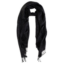 Buy Coast Jacquard Scarf, Black Online at johnlewis.com