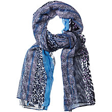 Buy Betty Barclay Animal Print Long Scarf, Blue Online at johnlewis.com