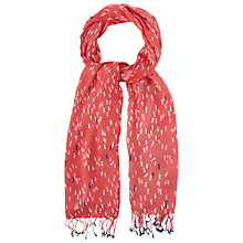 Buy White Stuff Little Fishy Scarf, Coral Online at johnlewis.com