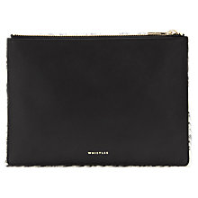 Buy Whistles Medium Clutch, Black/White Online at johnlewis.com