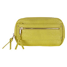 Buy Warehouse Mini Zip Cross Body Bag, Lime Online at johnlewis.com