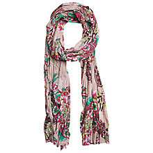 Buy Betty Barclay Floral Pleated Scarf, Multi Online at johnlewis.com