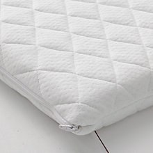 Buy John Lewis Premium Foam Crib Mattress, 89 x 38cm & Mattress Protector Set Online at johnlewis.com