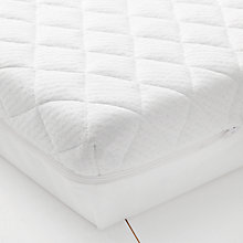 Buy John Lewis Premium Foam Cotbed Mattress, 140 x 70cm & Mattress Protector Set Online at johnlewis.com