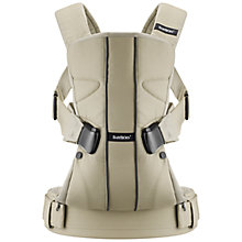 Buy BabyBjörn One Baby Carrier, Khaki Online at johnlewis.com
