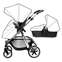 Buy Silver Cross Chrome Pioneer Pushchair and Essential Pack bundle with Free Simplicity Car Seat, Vintage Blue Online at johnlewis.com