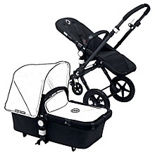 Buy Bugaboo Cameleon3 Pushchair Base Unit Chassis and Carrycot, Black/Black Online at johnlewis.com