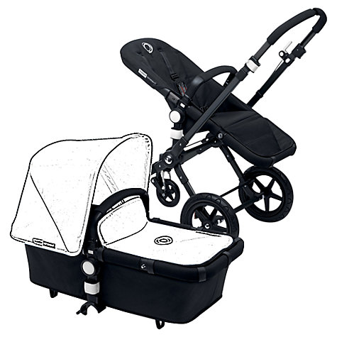 Buy Bugaboo Cameleon3 Base Unit Chassis and Carrycot, Black Online at johnlewis.com