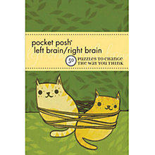 Buy House of Marbles Pocket Posh Left Brain Right Brain Puzzle Book Online at johnlewis.com