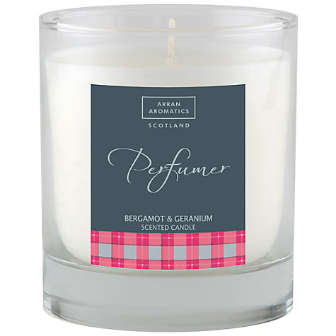Buy Arran Aromatics Bergamot and Geranium Scented Candle Online at johnlewis.com