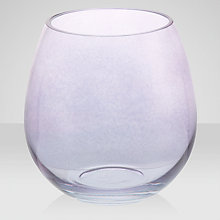 Buy Leonardo Hurricane Vase, Lilac Online at johnlewis.com