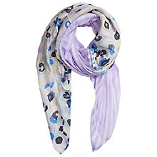 Buy Betty Barclay Animal Stripe Scarf, Purple Online at johnlewis.com