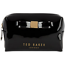 Buy Ted Baker Nanet Bow Wash Bag, Black Online at johnlewis.com