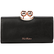 Buy Ted Baker Elmira Bobble Leather Matinee Purse, Black Online at johnlewis.com