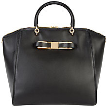 Buy Ted Baker Barrico Leather Tote Bag, Black Online at johnlewis.com