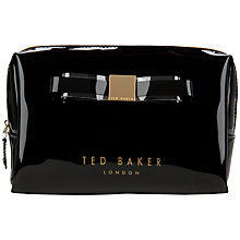 Buy Ted Baker Maisa Bow Wash Bag, Black Online at johnlewis.com
