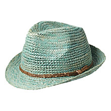 Buy Scotch & Soda Straw Braided Hat, Green Online at johnlewis.com