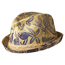 Buy Scotch & Soda Print Straw Hat, Natural Online at johnlewis.com