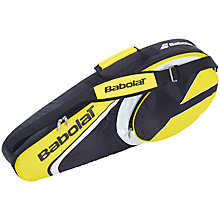 Buy Babolat X3 Aero Tennis Racket Bag, Black/Yellow Online at johnlewis.com