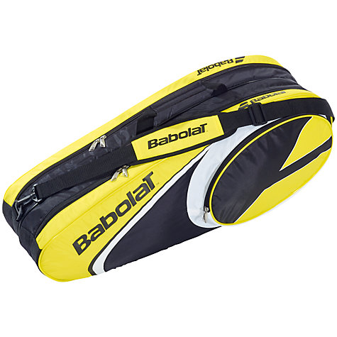 Buy Babolat X6 Aero Tennis Racket Bag, Black/Yellow Online at johnlewis.com