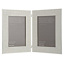 "Buy John Lewis Amy Silver Plated Enamel Double Photo Frame, 4 x 6"" (10 x 15cm) Online at johnlewis.com"