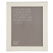Buy John Lewis Amy Enamel Photo Frame, Cream Online at johnlewis.com
