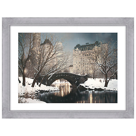Buy Rod Chase - Central Park at Night Framed Print, 84.5 x 110.5cm Online at johnlewis.com
