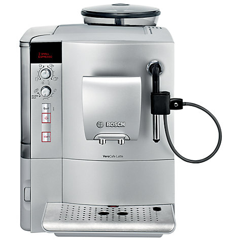 Buy Bosch TES50321RW VeroCafe Latte Bean-to-Cup Coffee Machine, Silver Online at johnlewis.com