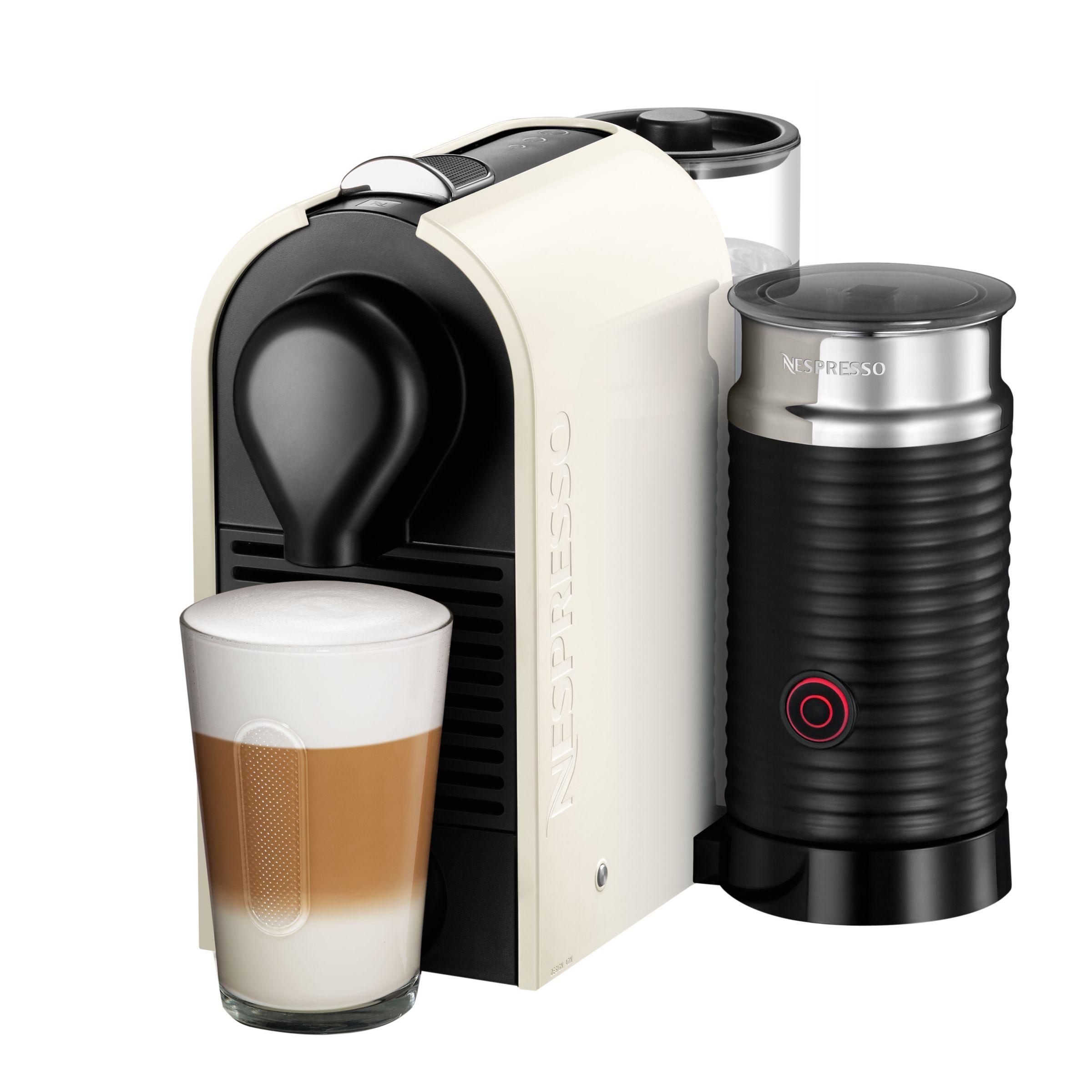 Krups Nespresso U Coffee Machine with Aeroccino by KRUPS, Cream