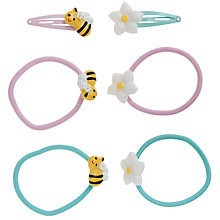 Buy John Lewis Girl Daisy and Bee Hair Set, Pack of 8, Multi Online at johnlewis.com